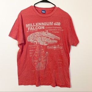 Star Wars red graphic tee size large